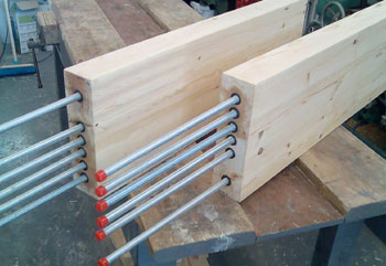 Steel Bracket And Shoes For Wooden Beams Repair