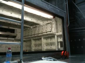 Compartmentation Fire proofing a ships bulkhead